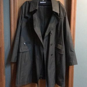 DKNY olive green coat perfect for Autumn weather